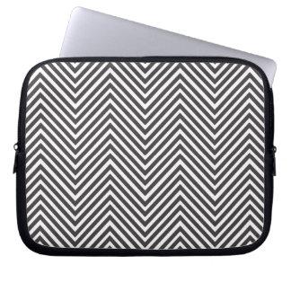 Housse Pour Ordinateur Portable Douille abstraite noire et blanche d'ordinateur