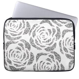 Housse Pour Ordinateur Portable Douille blanche d'ordinateur portable de roses