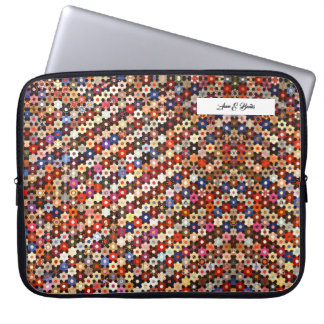 Housse Pour Ordinateur Portable douille colorée d'ordinateur portable de motif