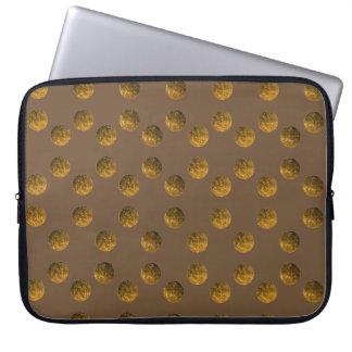 """Housse Pour Ordinateur Portable Douille d'or 15"""" d'ordinateur portable du néoprène"""
