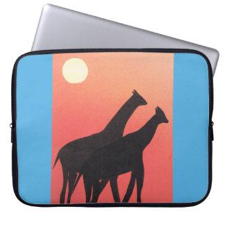 Housse Pour Ordinateur Portable Douille d'ordinateur avec la conception de girafe