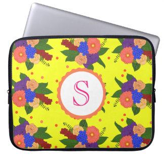 Housse Pour Ordinateur Portable Douille d'ordinateur portable d'arrangement floral
