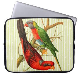 """Housse Pour Ordinateur Portable Douille d'ordinateur portable de """"deux perroquets"""