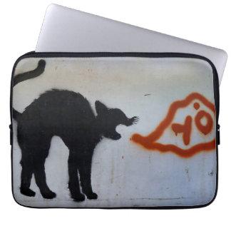 Housse Pour Ordinateur Portable Douille d'ordinateur portable de graffiti de chat