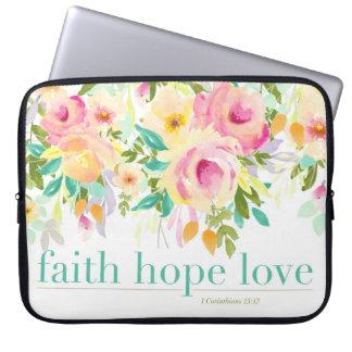 Housse Pour Ordinateur Portable Douille florale d'ordinateur portable d'aquarelle