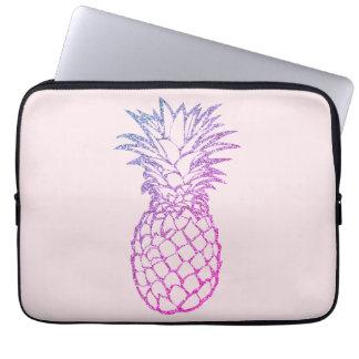 Housse Pour Ordinateur Portable Douille pourpre d'ordinateur portable d'ananas de