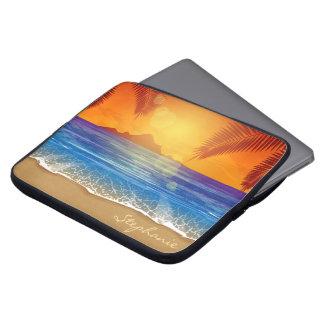 Housse Pour Ordinateur Portable Douille tropicale personnalisée d'ordinateur