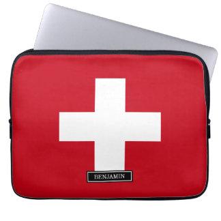 Housse Pour Ordinateur Portable Drapeau de la Suisse