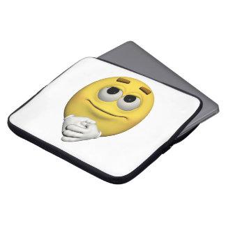 Housse Pour Ordinateur Portable émoticône de satisfaction