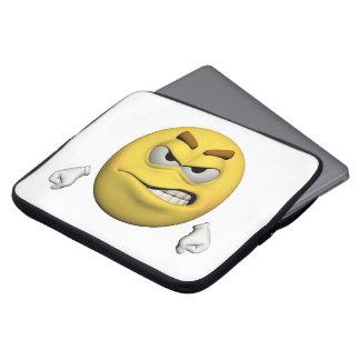 Housse Pour Ordinateur Portable Émoticône fâchée