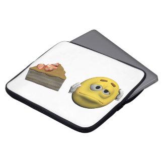 Housse Pour Ordinateur Portable Émoticône malade jaune ou smiley