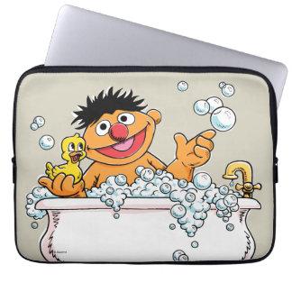 Housse Pour Ordinateur Portable Ernie vintage dans la baignoire