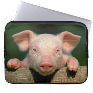 Housse Pour Ordinateur Portable Ferme de porc - visage de porc