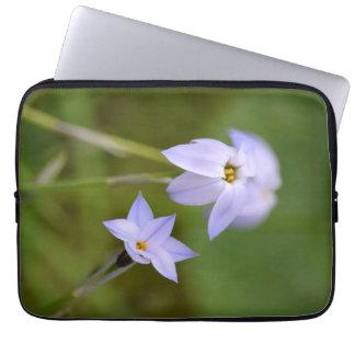 Housse Pour Ordinateur Portable Fleur blanche