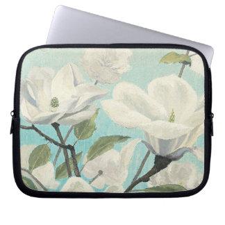 Housse Pour Ordinateur Portable Fleurs blanches des sud