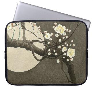 Housse Pour Ordinateur Portable Fleurs de prune la nuit par le cru d'Ohara Koson