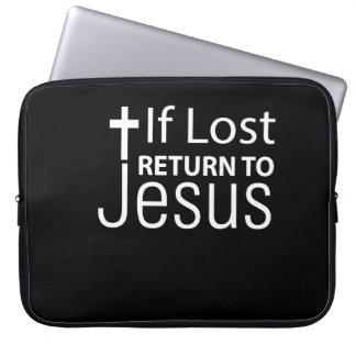 Housse Pour Ordinateur Portable Foi de Jésus si retour perdu à la fierté de Jésus