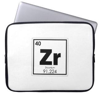 Housse Pour Ordinateur Portable Formul de chimie de symbole d'élément chimique de