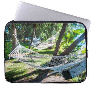 Housse Pour Ordinateur Portable Hamac sur la plage, Fidji