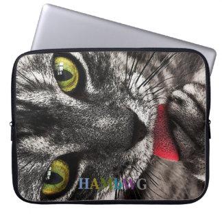 Housse Pour Ordinateur Portable HAMbWG léchant Kitty - douilles d'ordinateur