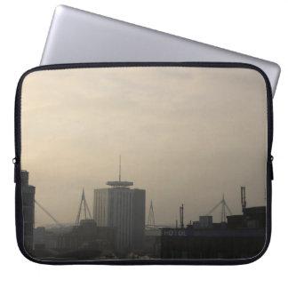 Housse Pour Ordinateur Portable Horizon de ville de Cardiff