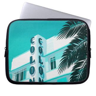 Housse Pour Ordinateur Portable Hôtel Miami de colonie