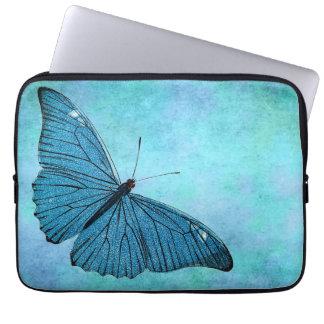 Housse Pour Ordinateur Portable Illustration bleue turquoise vintage de 1800s de