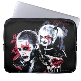 Housse Pour Ordinateur Portable Joker du peloton | de suicide et graffiti peint