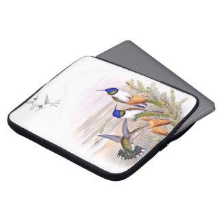 Housse Pour Ordinateur Portable La faune d'oiseaux de colibri fleurit la douille