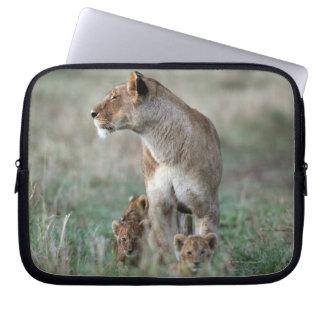 Housse Pour Ordinateur Portable Lionne (Panthera Lion) et masai Mara de CUB  