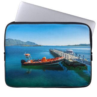 Housse Pour Ordinateur Portable Mâle d'atterrissage et bateau de vitesse