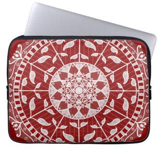 Housse Pour Ordinateur Portable Mandala de framboise