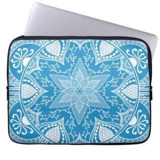 Housse Pour Ordinateur Portable Mandala d'oiseau bleu