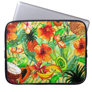 Housse Pour Ordinateur Portable Mon Aloha jardin d'agrément de fruit tropical et