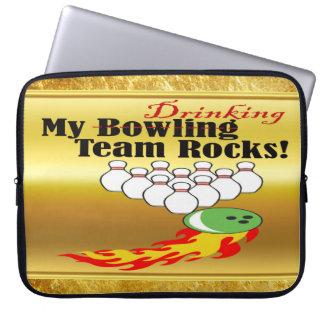 Housse Pour Ordinateur Portable Mon bowling/roches potables d'équipe