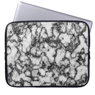 Housse Pour Ordinateur Portable Motif abstrait noir et blanc