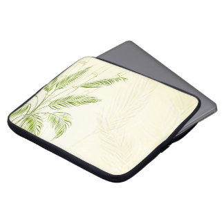 Housse Pour Ordinateur Portable Palmiers sur la douille en bambou d'ordinateur