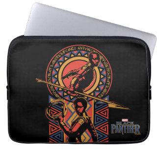 Housse Pour Ordinateur Portable Panthère noire | Okoye et panneau de Nakia