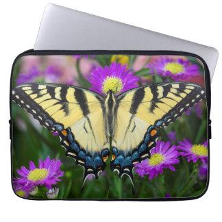 Housse Pour Ordinateur Portable Papillon de machaon sur la marguerite