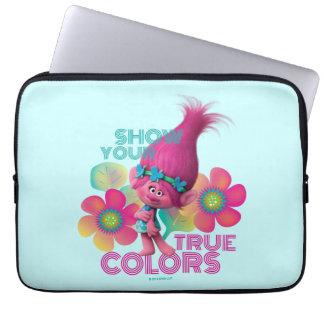 Housse Pour Ordinateur Portable Pavot des trolls | - montrez vos couleurs vraies