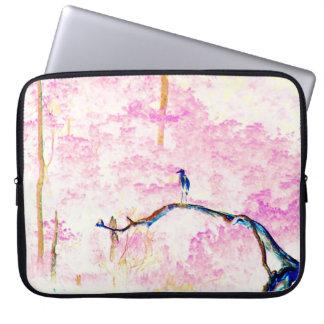 Housse Pour Ordinateur Portable Paysage de fleurs de cerisier