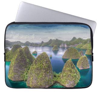 Housse Pour Ordinateur Portable Paysage d'île de Wayag, Indonésie