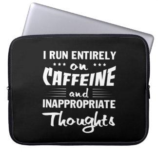 Housse Pour Ordinateur Portable Pensées inadéquates de caféine de course de café