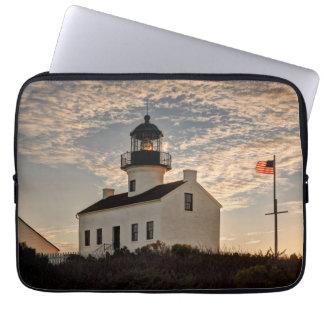 Housse Pour Ordinateur Portable Phare au coucher du soleil, la Californie