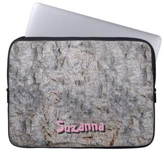Housse Pour Ordinateur Portable Photo tropicale neutre d'écorce d'arbre avec le