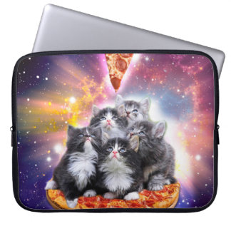 Housse Pour Ordinateur Portable Pizza d'Illuminatis - chat de pizza - séance de