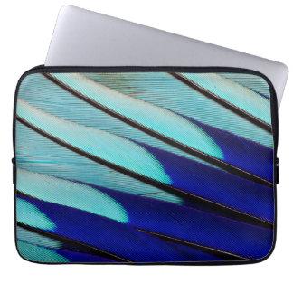 Housse Pour Ordinateur Portable plumes Bleu-gonflées de rouleau