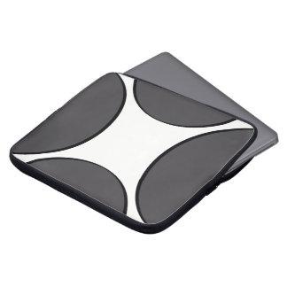 Housse Pour Ordinateur Portable Point gris-foncé