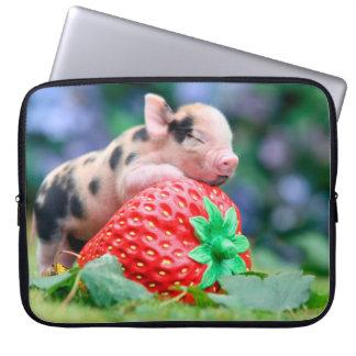 Housse Pour Ordinateur Portable porc de fraise