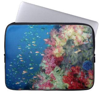 Housse Pour Ordinateur Portable Récif coralien sous-marin, Indonésie